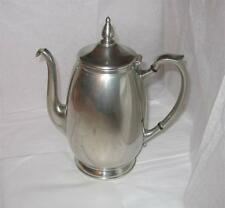 Vintage Flagg & Homan Pewter Coffee Pot Old Very Good Condition