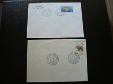 FRANCE - 2 enveloppes 1991 1992 (cy13) french