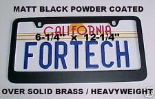 Matt BLACK SOLID BRASS License Plate Frame. Classic NEW