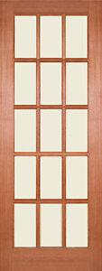 "24"" x 78"" Inch 610mm x 1981mm SA 15-Light Hardwood Un-Glazed Door"
