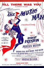 "Robert Preston ""MUSIC MAN"" Barbara Cook / Meredith Willson 1957 Sheet Music"