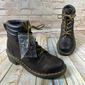 NEW Doc Dr Martens Air Wair ALEXANDRA Size 10 Leather Dress Boots Heel Shoes