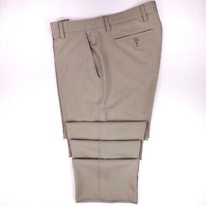 FootJoy Golf Pants 36x30 Beige Flat Front Golfing Trouser Mens Size Sz Tech Pant