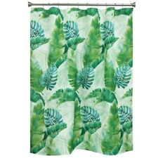 Bacova Kauai Tropical Green Palm Leaves Fabric Shower Curtain NEW