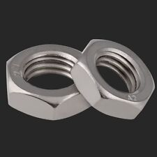 Qty 20 - M6 x 1mm Pitch Half Lock Nuts Hex Jam Nuts 304 A2 Stainless Steel