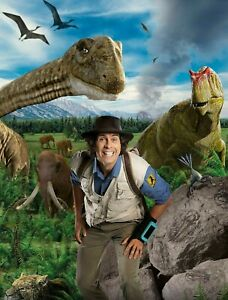 Andy's Dinosaur Adventure POSTER WALL ART - CHOOSE SIZE - FRAMED OPTION a