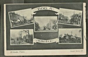 """XYO Early Multiview Postcard, """"Views of Willesden"""", Middlesex"""