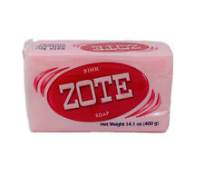 JABON Zote Barra Rosa Pink Laundry Soap Bar 400g Stain Dirt Removing Agent