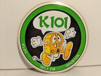 Vintage K101 KLOL Houston Texas Radio Round Decal Bumper Sticker