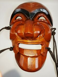 """Korean Hand Craved Wooden Mask for wall Decor 9"""" Inch"""