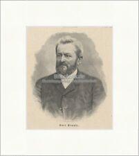 Karl Krause Leipzig Unternehmer Papierschneidemaschine Graphik Holzstich E 21022