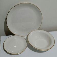 RARE 12 Vintage Buffalo China Dinnerware》4 Dinner Plates》4 Bowls》4 Small Plates