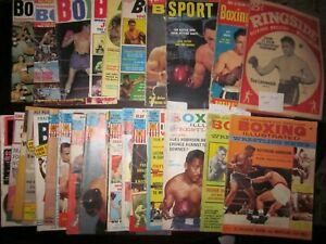 (28) 1949-1973 Boxing Illustrated Magazines, Ringside Record, International