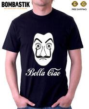 R0530 BELLA CIAO T-shirt Tee for La Casa de Papel fans Dali Mask Print Tv Series