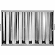 6 Pack 25x16 Hood Grease Exhaust Filter Baffle 430 Commercial 7 Slots