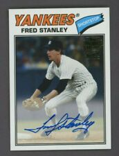 2019 Topps Archives Fan Favorites Fred Stanley Signed AUTO New York Yankees