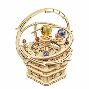 DIY 3D Starry Night Wooden Puzzle Game Assembly Music Box Toy Gift for Children
