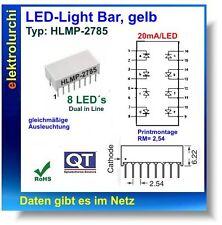 1x LED-Light Bar, gelb, Typ:HLMP-2785, Meldeleuchte Kontrollampe Kontrolllampe
