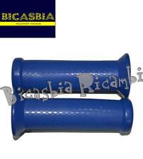 8280 - MANOPOLE BLU DM 21 VESPA 50 SPECIAL R L N 125 ET3 PRIVERA + LOGO PIAGGIO