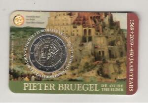 2 euros commemorative belgique 2019 pieter bruegel version flamande
