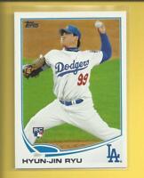 Hyun-jin Ryu RC 2013 Topps Series 2 Rookie Card # 661 L A Dodgers Baseball