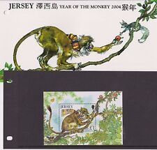 JERSEY PRESENTATION PACK 2004 YEAR OF THE MONKEY STAMP MINIATURE SHEET 10% OFF 5