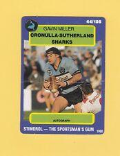 1990 Stimorol Rugby League Trading Card #44 Gavin Miller Cronulla Sharks