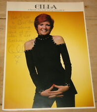 CILLA BLACK SIGNED 1970s PROMO 10x8 PHOTO WITH MESSAGE UACC REGISTERED DELAERS