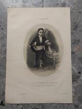 1862 Litografía La Andalucía S.A.R. el Principe de Asturias con traje... Sevilla