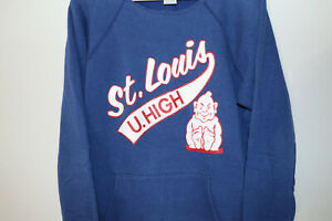 Champion SLU St. Louis University High Vintage Sweatshirt Hoodie XL 1980s 80s
