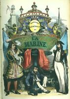 Van Tenac Histoire de la Marine Naufrages batailles explorations 4 volumes 1847