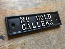 NO COLD CALLS SIGN - STOP SALES SALESMAN SOLID CAST METAL DOOR PLAQUE DOOR-21-bl