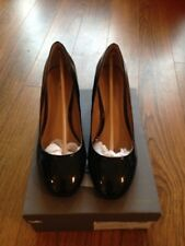 John Lewis  Black Patent Leather ALANA Court Shoe UK 7 NEW with Box