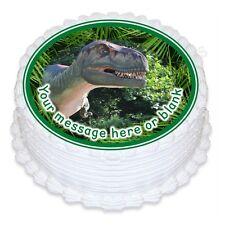 ND1 T-REX DINOSAURO personalizzata ROUND CAKE TOPPER glassa