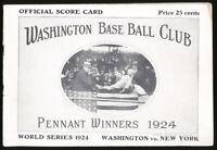 1924 World Series Washington Senators vs NY Giants Program- RARE🔥WALTER JOHNSON