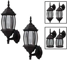 Outdoor Exterior Wall Lantern Light Fixture Twin Pack, Oil Rubbed Bronze