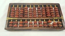 Chinese Hardwood Abacus 11 Columns 5 X 2 Beads Brass fittings by Red Lion Brand