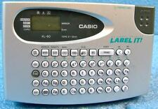 CASIO KL-60 EZ LABEL PRINTER WITH QWERTY KEYBOARD, BATTERY POWERED