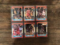 Nice 1986 Fleer Basketball Card Lot. Rookies And Hall Of Famers. PSA/BGS worthy
