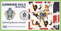 G.B. 2005 London 2012 Olympic Host City M/S Havering First Day Cover, Romford