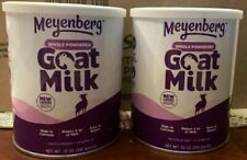 Meyenberg Whole Powdered Goat Milk Vitamin D & Calcium 2 Cans/ 12Oz Exp 4/29/24