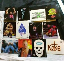 WWF WRESTLING STICKERS SET Complete 12 Sticker Set From 1999 WWE DECALS Lot WCW