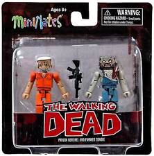 The Walking Dead MiniMates Prisoner Hershel & Farmer Zombie Figures NIB Series 3