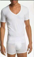 Tommy John Cotton / Spandex Deep V-Neck  Shirt White Size L