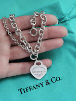 Tiffany & Co Return To Tiffany Sterling Silver  Double Chain Heart Tag Bracelet