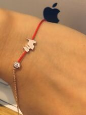 Red thin Rope Bracelet Rose Gold Dog Love Birthday Gift Jewellery Real Zircon