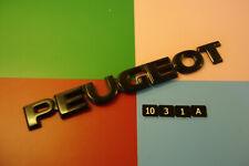 PEUGEOT BLACK PLASTIC REAR BADGE EMBLEM. 206mm x 24mm