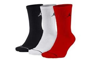Jordan Jumpman QTR 3 Pack Socks Black Red White Men's Sport Training SX5545-011