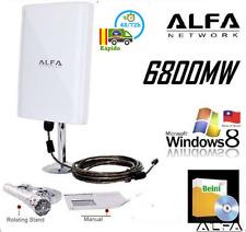 AWUS039NH ALFA,6800mw ,98DBI,EXTERIORES,CABLE 5M,RALINK 3070 wifi alta potencia
