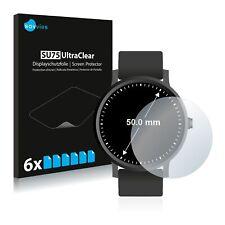 6x Displayschutzfolie für Armbanduhren (Kreisrund, Durchmesser: 50 mm) Klar